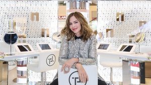 Trinny Woodall at the Selfridges pop-up for Trinny London makeup. Photo: Getty