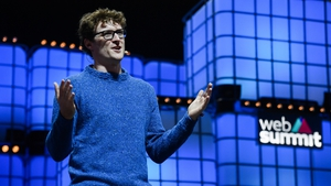 Paddy Cosgrave wearing the jumper at this year's Web Summit. Photo: Getty