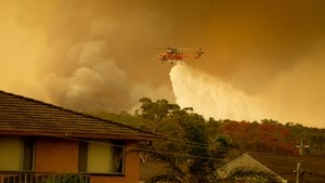 The fires are being fanned by strong winds, low humidity and high temperatures