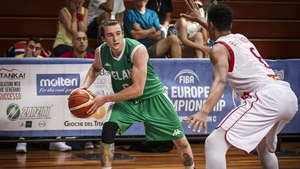 Lorcan Murphy in action for Ireland at the FIBA Small Countries 2019 tournament