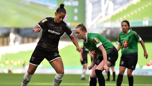 Rianna Jarrett in action during the FAI Cup final
