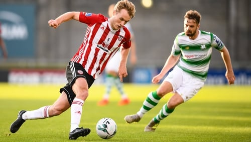 Greg Sloggett scored one of the goals of the season - against Dundalk - in the second round of the FAI Cup