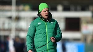 Ireland head coach Adam Griggs