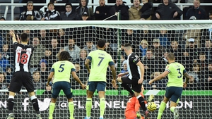 Ciaran Clark scuffs home what proved to be the match winner against Bournemouth