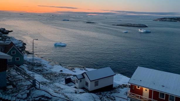 Greenland dusk