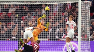 Germany's Alexandra Popp headed the visitors into an early lead at the home of English football