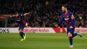 Lionel Messi scored three for Barcelona