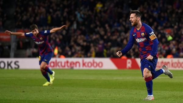 Lionel Messi scored three for Barcelona