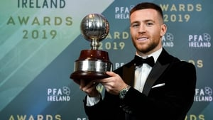 Jack Byrne received the top award at the PFAI gala