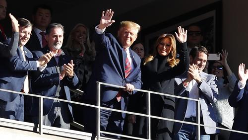Trump Gets Warm Welcome, Chants at Alabama-LSU Game