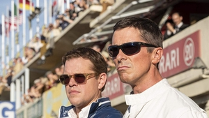 Matt Damon and Christian Bale  in Le Mans '66