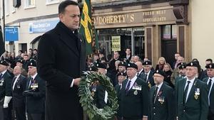 Leo Varadkar laid a wreath during the ceremony