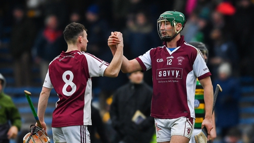 Tommy Ryan and Conor Kenny of Borris-Ileigh celebrate