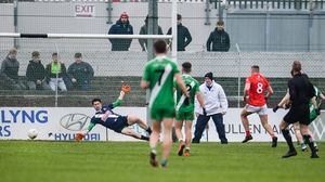 Jordan Morrissey of Éire Óg scores the only goal of the game