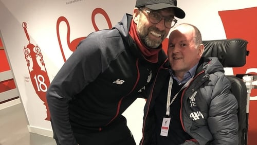 The Liverpool manager welcomed Sean Cox back to Anfield