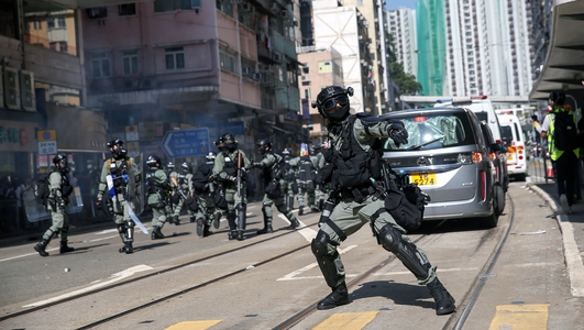 Another day of violence and chaos in Hong Kong