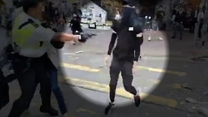 The shooting of the protester was shown live on Facebook