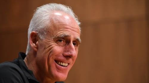 Mick McCarthy speaking in Dublin this afternoon