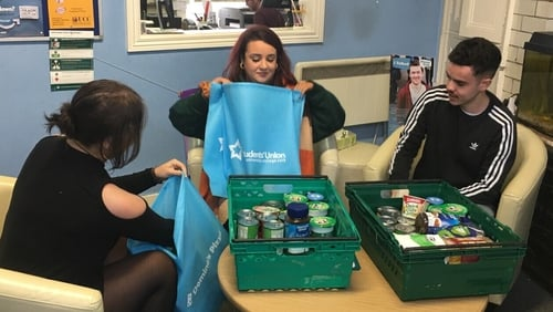 The UCC Students' Union founded the food bank in response to the financial hardships expressed by students