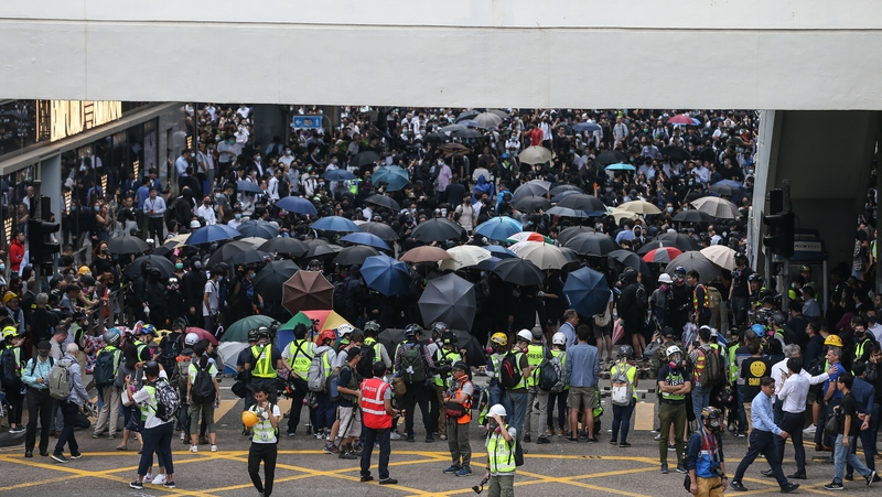 Police fire tear gas during Hong Kong protests