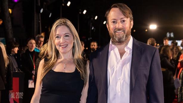 David Mitchell and his wife Victoria Coren Mitchell (PA)