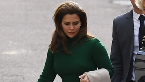 Princess Haya bint al-Hussein pictured at the Royal Courts of Justice in London
