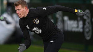 James McClean trained with the Republic of Ireland squad in Abbotstown today