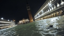 St Mark's Square is particularly affected by the high tides