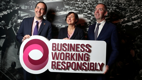 Jim O'Keeffe, Managing Director of Retail Banking, AIB, Kari Daniels CEO Tesco Ireland and Tomas Sercovich, CEO Business in the Community Ireland