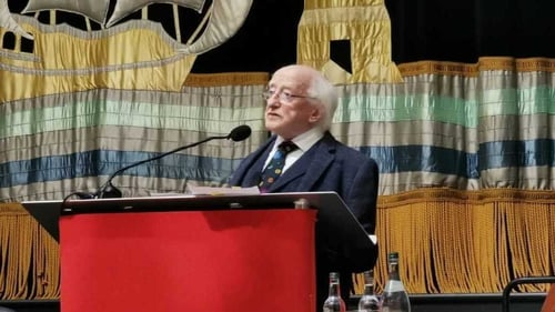 President Michael D Higgins said the time for debate on the science of climate change has long passed