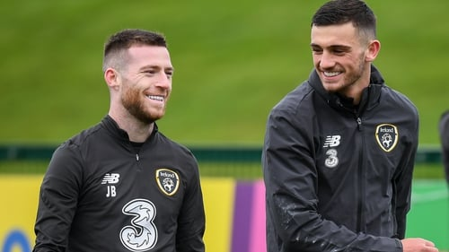 Thick as thieves - Jack Byrne and Troy Parrott made their first senior Ireland start in the same game