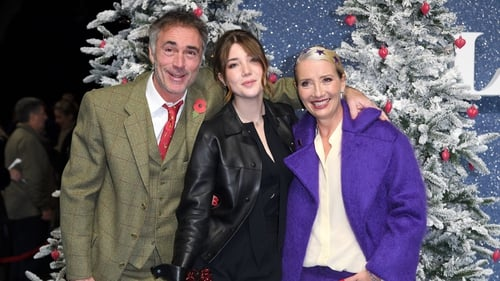 Greg Wise and Emma Thompson with daughter Gaia Wise