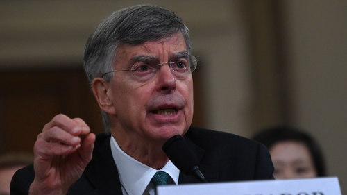 William Taylor testifies before the House Intelligence Committee on Capitol Hill