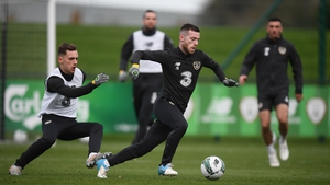 Byrne gets away O'Connor in training this week