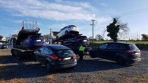 The items seized included six vehicles (Pics: An Garda Síochána)
