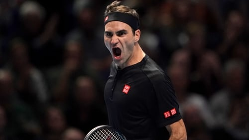 Roger Federer faced just a single break point on his serve in a comprehensive win