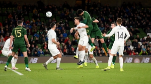 Derrick Williams scores for Ireland against New Zealand