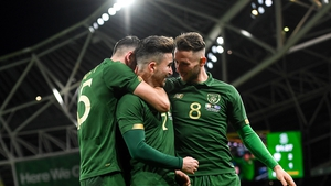 Sean Maguire scored his first goal for Ireland against New Zealand