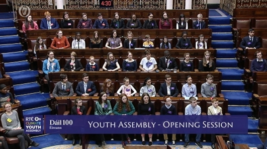 Youth Assembly on climate change takes place in Dáil