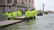 St Mark's Square has closed due to the flooding, as a clean up operation is under way
