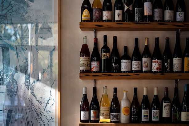 Rhodora wine shelves