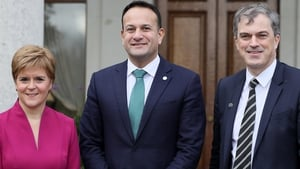 Nicola Sturgeon, Leo Varadkar and Julian Smith at the British-Irish Council meeting in Farmleigh