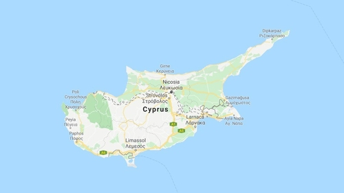 The island of Cyprus is divided along the dotted line (Pic: Google Maps)