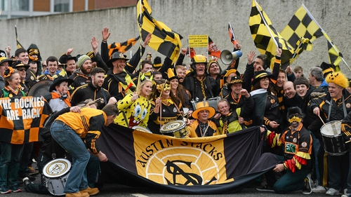 Austin Stacks supporters at the 2015 All-Ireland semi-finals