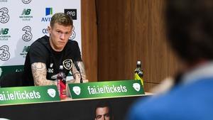 James McClean met the press earlier in the week
