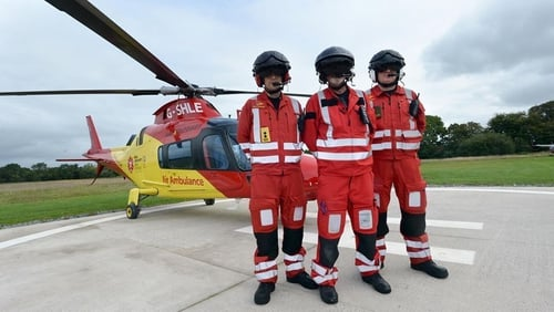 The rapid response air ambulance service came into operation last August and has already completed hundreds of missions