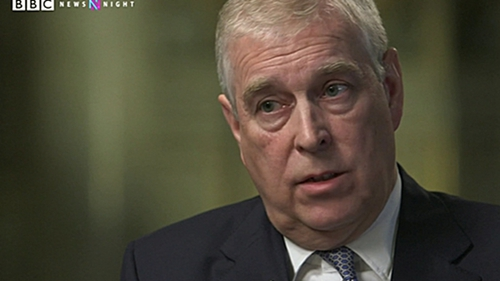Prince Andrew said that he let down the British royal family (Pic: BBC Newsnight)