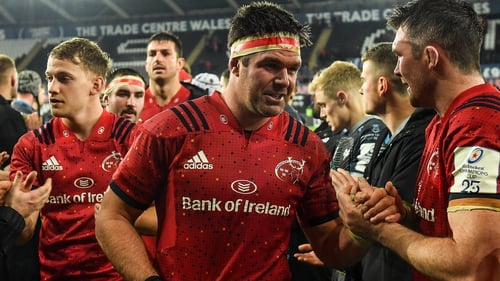 Billy Holland (L) and Peter O'Mahony savour Munster's win