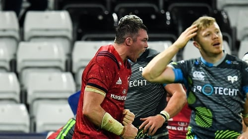 Peter O'Mahony reacts as Munster secure the bonus point