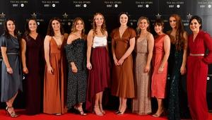 Dublin footballers at the awards banquet